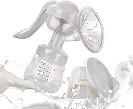 Manual Breast Pump - Nature Silicone Breastfeeding Letdown Milk Saver Hand Breastpump - 360° Rotatable Handle with Newest Pump Parts - No BPA & 100% Food Grade Silicone - Update 2018 Version