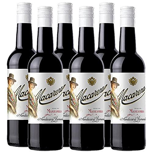 Vino Manzanilla Macarena de 75 cl - D.O. Manzanilla Sanlucar de Barrameda - Bodegas Grupo Caballero (Pack de 6 botellas)
