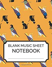 Blank Music Sheet Notebook: Music Manuscript Paper, Staff Paper, Music Notebook 12 Staves, 8.5 x 11, A4, 100 pages