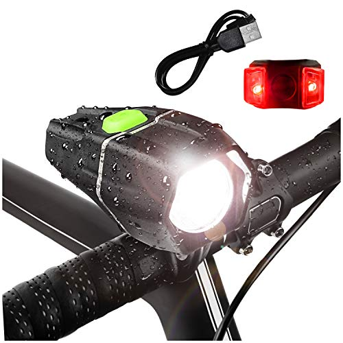 Bright Eyes - Ember 400 Lumens, Over 4+ Hours on HIGH Beam (2600mAh Li I) - w/GoPro Compatible mounts (2 Options) - USB Rechargeable Waterproof LED Bike Headlight with Free Tail Light - Super Bright