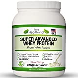 Fat Free Best Tasting Whey Protein Isolate Powder Vanilla Flavor Diet Supplements for Men, Women and...