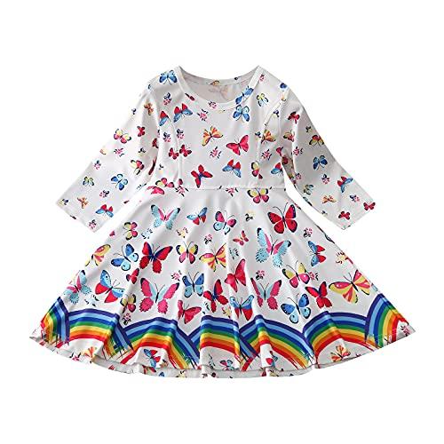 Sheey Chicas Fancy Vestido Princesa Flor Desfile de Niños Vestidos sin Mangas Volantes Vestido de Fiesta Disfraz de Princesa, para Fiesta de Cosplay, Boda, Partido