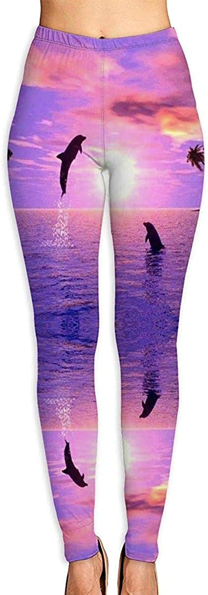 Dolphin Sunset Women's 3D Printed Soft 35% OFF Ranking TOP8 Run Workout Leggings Yoga