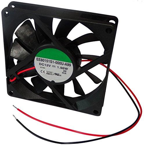 AERZETIX: Ventilador para PC Ordenador de sobremesa PC 12V 80x80x15mm 62,86m3/h 34,7dBA 3000rpm 24AWG