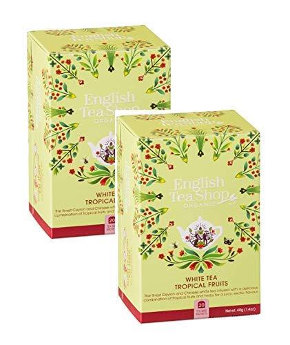 English Tea Shop Tè Bianco ai Frutti Tropicali - 2 x 20 Bustine di Tè (80 Grammi)