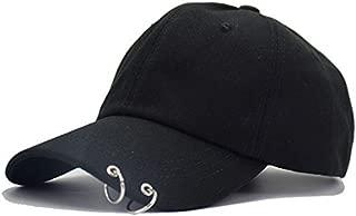 Bosunshine The Same Style As JIMIN's V'S GD's Iron Ring Adjustable Baseball Cap Boys Girls Snapback Hip Hop Flat Hat
