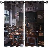 Moderno hogar sala de estar decoraciones anime paisaje escuela aula habitación infantil moda cortina opaca W72xL84 pulgadas