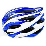 UPANBIKE Casco de Bicicleta Casco de Ciclismo Ajustable de una Pieza Protección de Cabeza Acolchada de Seguridad para Trekking,Azul y Blanco