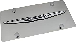 Chrysler Wing Logo Polished Stainless Steel License Plate