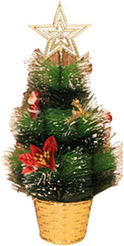 Christmas Tree Decorations Mini Artificial Miniature Tree Tabletop Festival Ornaments Red Poinsettia Rustic Christmas Decorations