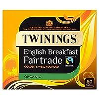トワイニング有機フェアトレードの朝食ティーバッグ80パックあたり (x 6) - Twinings Organic Fairtrade Breakfast Tea Bags 80 per pack (Pack of 6) [並行輸入品]