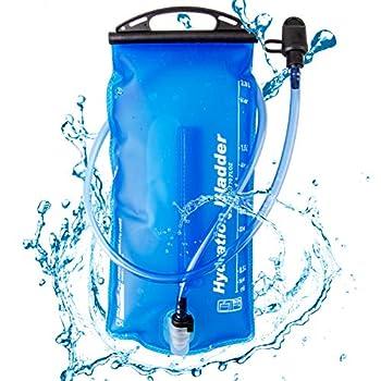 TRIWONDER Poche Hydratation 2L Poche à Eau Réservoir d'Eau Souple Running Vessie d'Hydratation pour Randonnée Marathon Vélo Escalade Sport (2L (TPU) - Bleu)