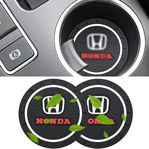 2 pezzi con logo badge sottobicchieri portabicchieri per auto sottobicchieri in silicone antiscivolo sottobicchiere inserto tappetino per civic 4d accord steeed crv rd1 x4 fit gd1 shadow vt750
