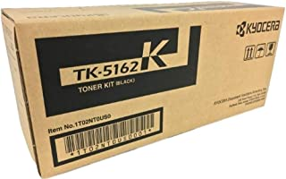 Kyocera 1T02NT0US0 Model TK-5162K Black Toner Kit For use with Kyocera ECOSYS P7040cdn A4 Color Network Laser Printer, Up to 16000 Pages Yield at 5% Average Coverage