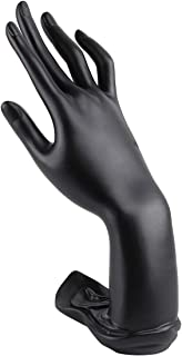 CABILOCK 1 Pack Mannequin Lotus Hand Model Ring Display Stand Jewelry Ring Bracelet Necklace Display Holder(Black)