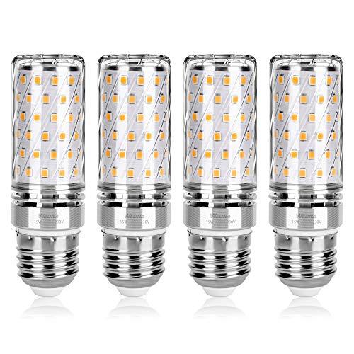 Wedna E27 LED maíz bombilla, 15W Blanco Cálido, 120W Incandescente Bombillas Equivalentes, 1500Lm, Edison tornillo bombillas, No regulable - 4 unidades 🔥