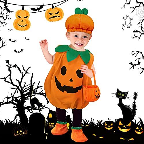 Costume da zucca per Halloween, costume di carnevale, costume da carnevale con mamma(1)