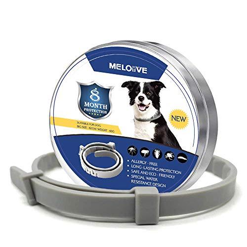 pas cher un bon Meloive pour collier de chien contre les puces et les tiques, étanche, réglable, et…