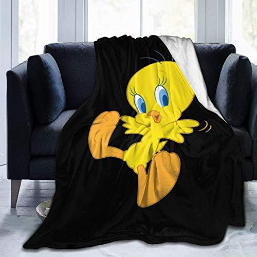 Tengyuntong Tweety-Bird Flanell Fleece Decke - Ultra Soft Cosy Warm Throw Leichte Decke für Zuhause 80 '' x60