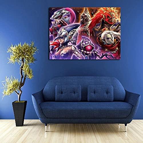 Cuadro En Lienzo 1 Piezas La Leyenda Zelda Hyrule Warriors Evil Power 1 Piezas Pintura Sobre Lienzo,1 Piezas Imagen Impresión,Pintura Decoración Pared,Canvas 1 Piezas,Tejido No Tejido Moderna 1 Piezas