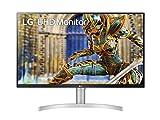 LG 32UN650 Monitor 32' UltraHD 4K LED IPS HDR, 3840x2160, AMD FreeSync 60Hz, 1 Miliardo di Colori, Audio Stereo 10W, HDMI 2.0 (HDCP 2.2), Display Port 1.4, Altezza Regolabile, Flicker Safe, Bianco