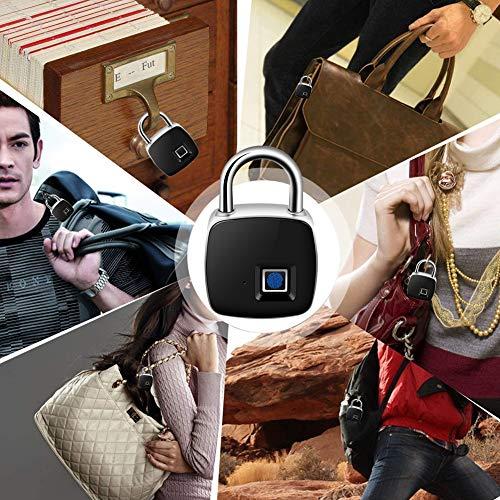 Electronic Door Lock Fingerprint Recognition Smart Keyless Waterproof Security Anti-Theft Padlock Widely used