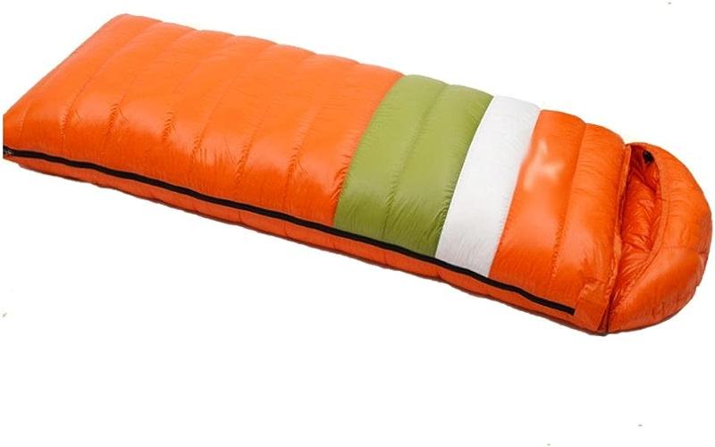 Enveloppe adulte Sac de couchage avec chapeau amovible camping en plein air voyage (canard 400g-2000g remplissage)