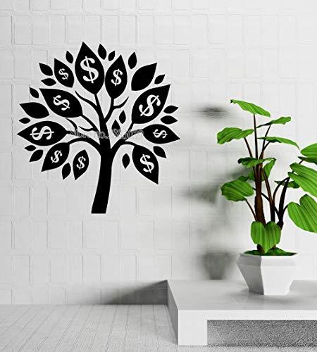 yaofale s Geld Baum Wandaufkleber Talisman Erfolg Room Decor Wandtattoo Vinyl Aufkleber Wohnzimmer Sofa Hintergrund Wand L56x59cm