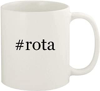 #rota - 11oz Hashtag Ceramic White Coffee Mug Cup, White