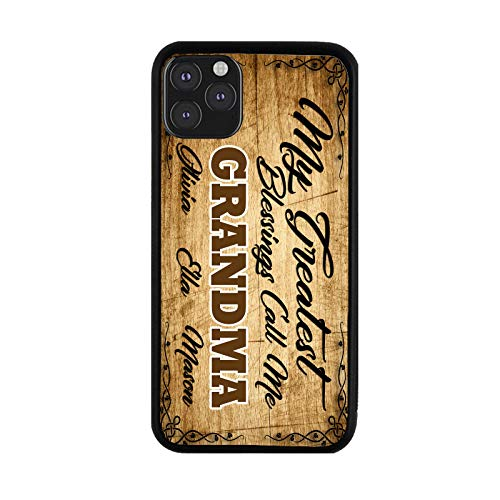 grandma phone cases BRGiftShop Personalized Custom Name My Greatest Blessings Call Me Grandma for iPhone 11 Pro Max