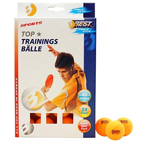 Best Sporting Tischtennisbälle, Qualität: 1 Stern, 24 Stück, Farbe: Orange