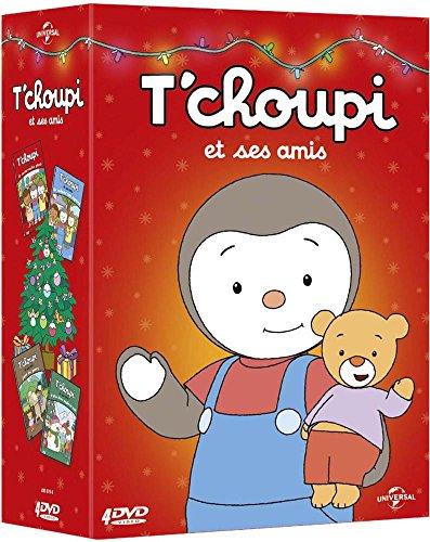 interactif -Coffret Cache géant + La cabane des Copains + T'choupi et Ses Amis Font du Poney + Le Plus Beau Sapin de Noël