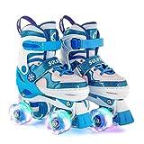 Sulifeel Ice Snow Ruedas Patines Roller con Luces Ajustables para Niñas y Niños - Medium(32-35EU)