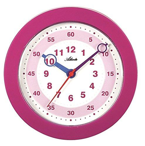 Atlanta Wanduhr für Mädchen für Kinder Rosa Pink - 4481-17