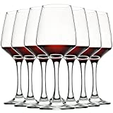 Wine Glasses Set of 8, 12oz, Lead-free, Clear, Durable Glassware
