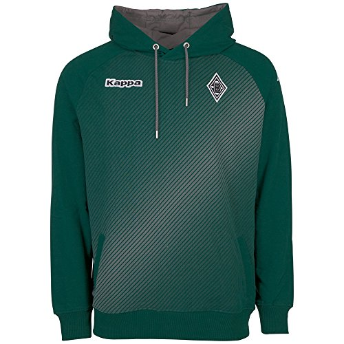 Kappa Herren BMG Sparetime Hooded Sweatshirt, 323 Irland Green, XXL