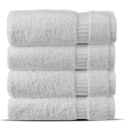 Chakir Turkish Linens Hotel amp Spa Quality Highly Absorbent 100% Cotton Turkish Washcloths 4 Pack White