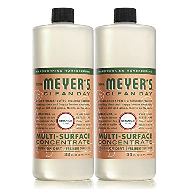 Mrs. Meyer's Clean Day Multi-Surface Concentrate, Geranium, 32 fl oz, 2 ct