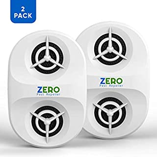 ZEROPEST Ultrasonic Pest Repeller Plug in Electronic Pest Defender Repellent Pest Control Reject Devices for Rat Mosquito Mice Spider Ant Roaches Bugs Flea Insect