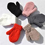 LOSOUL Toddler Baby Boy Girl Warm Winter Mittens Gloves With Fleece Lining Snowflake Design 6 Pair