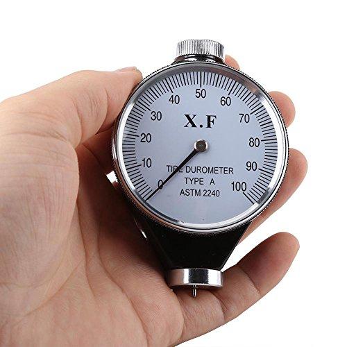 Härtemesser, Reifen Gummi-Prüfvorrichtung Messgerät Härte 0–100HA, Tipo A, 1