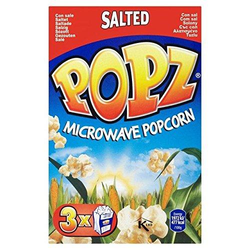 Popz Popcorn A Microonde Salato 3 X 90g (Confezione da 6)