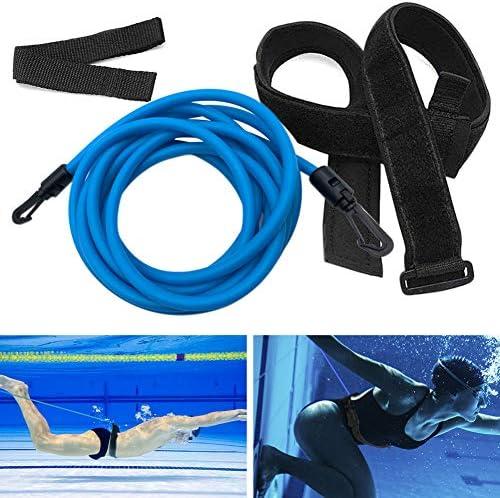 Kenoucle Swim Training Belts Swim Bungee Cords Resistance Bands Swim Tether Stationary Swimming product image