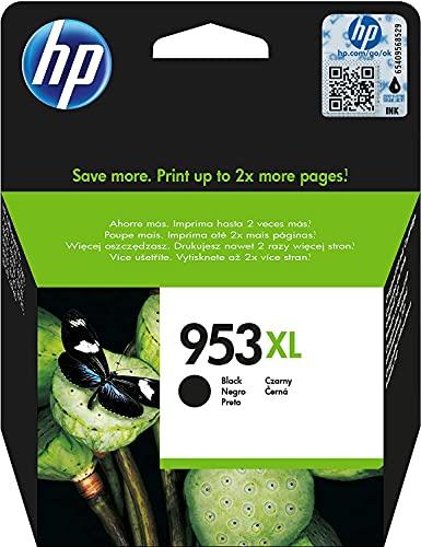 HP 953XL (L0S70AE) Cartuccia Originale per Stampanti a Getto di Inchiostro, Compatibile con HP OfficeJet Pro Serie 8000 e OfficeJet Pro 7740 Grandi Formati, Nero