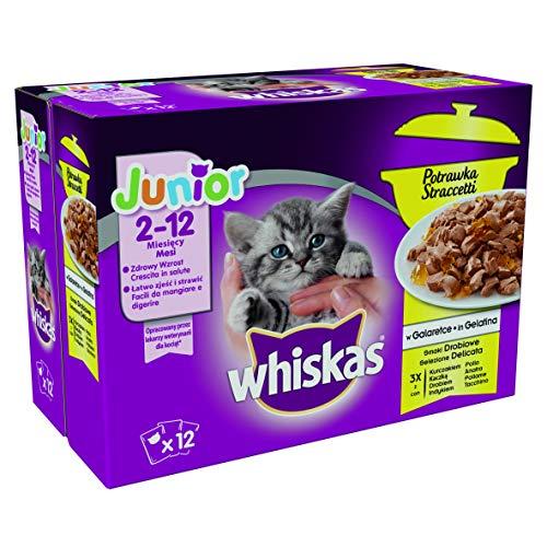 Whiskas stea Gravier fleischige Snacks avec dinde, lot de 4 (4 x 12 x 85 g)