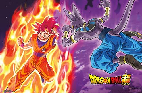 Trends International Dragon Ball: Super - Gods Battle, 22.375' x 34', Unframed Version