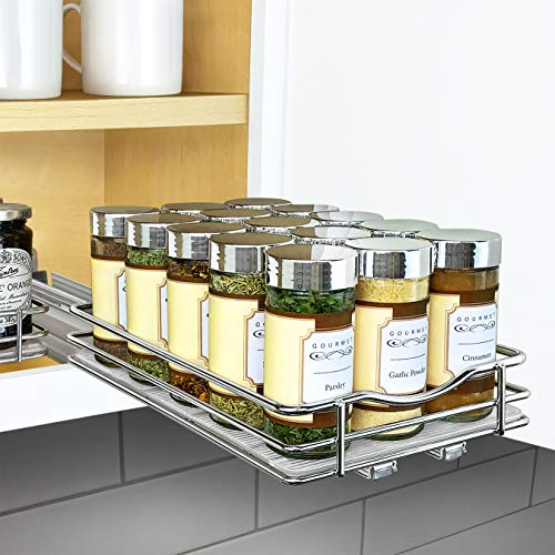 Lynk Professional Slide Out Spice Rack Upper Cabinet Organizer, 6-1/4