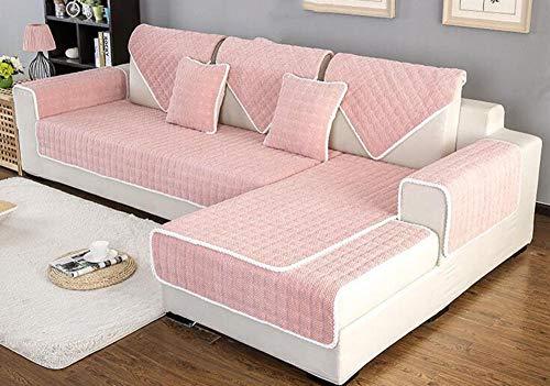 HXTSWGS Cojín de Tela para sofá, Funda de sofá nórdica Antideslizante de Invierno, Funda de Toalla de sofá Gruesa de felpa-A05_110 * 240cm
