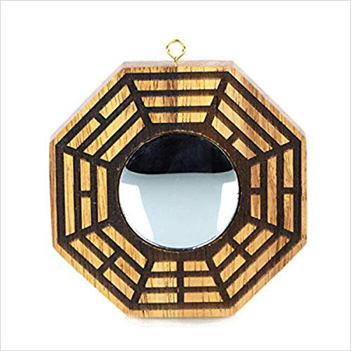 Better us Feng Shui Wood Bagua Mirror 4 Inch (Concave)