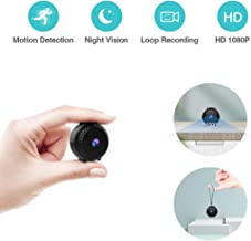 Puoneto Mini Spy Hidden Camera, Full HD 1080P Small Security Cameras Auto Night Vision Nanny Cam Motion Activated Indoor Covert Spy Cam for Home Office